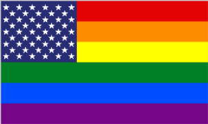 USA Gay Pride Large Flag - 5' x 3'